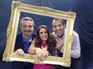 En intimamente plus Laura Aiello con Victor Hugo y Eduardo de Abreu