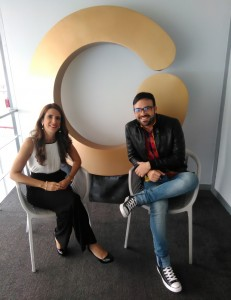 Con Meibel di Martino antes de grabar