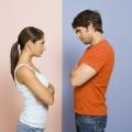 Divorcio entre hombres y mujeres