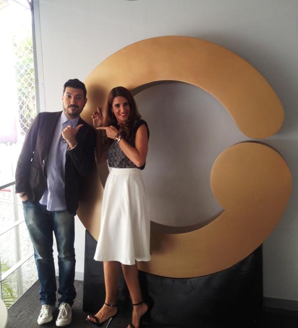 Dereck Blanco y Laura Aiello antes de entrar al programa