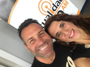 En la radio Laura Aiello y Vicente Passarielo hablando de la separacion y el divorcio