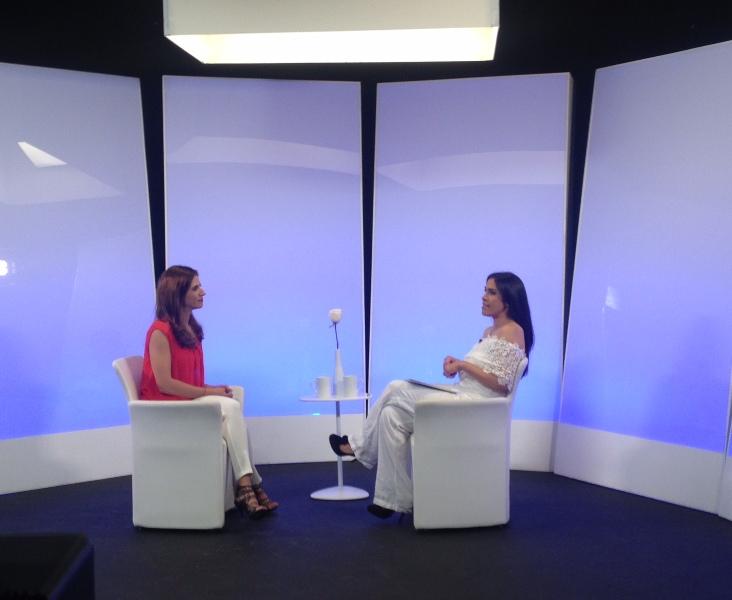 Laura Aiello en Programa Cara a Cara con Nathaly Salas Ghuaitero
