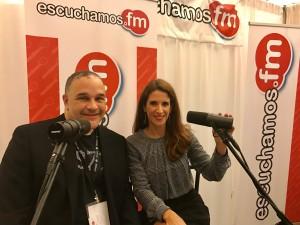 Laura Aiello en la radio Escuchamos FM con Jose Urdaneta